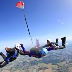 De parachute gaat open